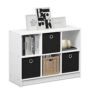 Furinno Basic 3x2 Bookcase Storage with Bins, , rollover