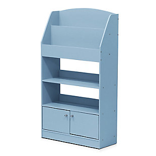 Furinno Lova Magazine/Bookshelf with Storage Cabinet, , large