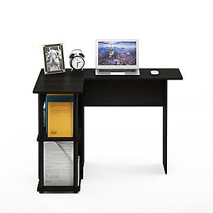Furinno Abbott L-Shape Desk with Bookshelf, , rollover