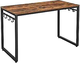 "Vasagle Industrial Rustic 47"" Desk, Rustic Brown, large"