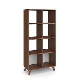 "HON Basyx Basyx 66"" Cube Bookcase, Light Walnut, large"