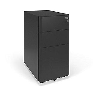 HON Basyx Basyx Modern Slim Mobile Filing Cabinet, , rollover