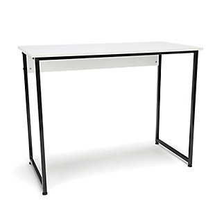 OFM Essentials ESS-1040 Office Desk, White/Black, rollover