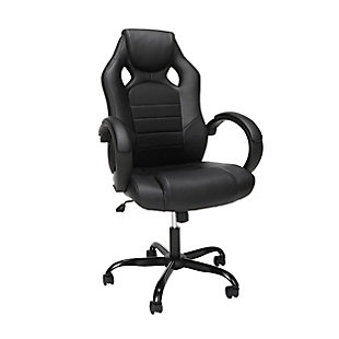 OFM Essentials High-Back Gaming Chair, Black, large