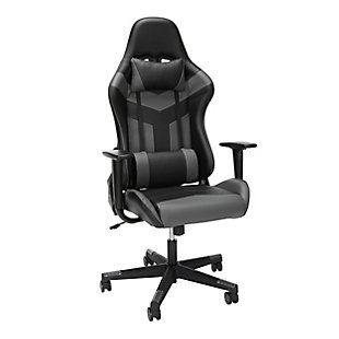 OFM Essentials High Back Gaming Chair, Gray, rollover