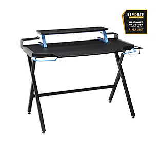 RESPAWN 1000 Gaming Computer Desk, Blue/Black, rollover
