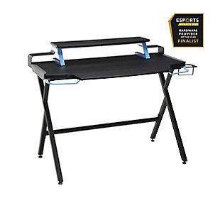 RESPAWN 1000 Gaming Computer Desk, Blue/Black, large