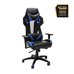 RESPAWN 205 Racing Style Gaming Chair, Blue/Black, rollover