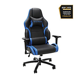 RESPAWN 400 Big and Tall Racing Style Gaming Chair, Blue/Black, rollover