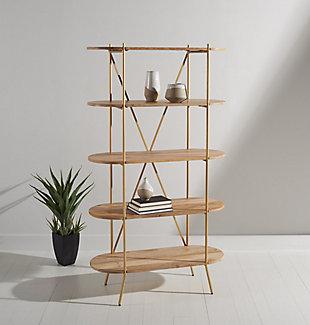 Safavieh Kindell Wood Bookshelf, , rollover