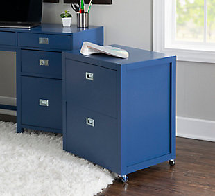 Linon Paige Rolling File Cabinet, , rollover