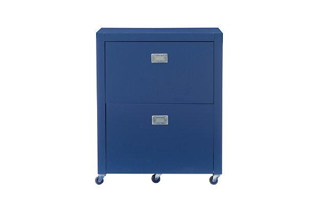 Linon Paige Rolling File Cabinet, , large