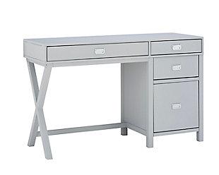 Linon Paige Side Storage Desk, , large
