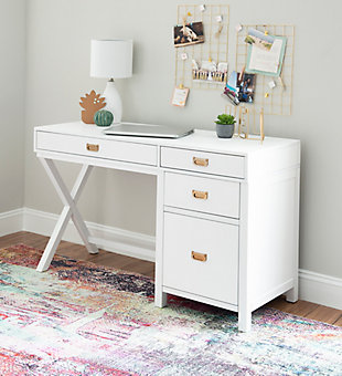 Linon Paige Side Storage Desk, , rollover