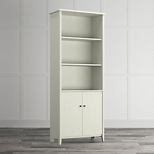 OFM Quarters and Craft High Tide Collection Home Office Library Bookcase, in Weathered White, , rollover