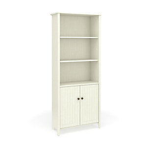 OFM Quarters and Craft High Tide Collection Home Office Library Bookcase, in Weathered White, , large