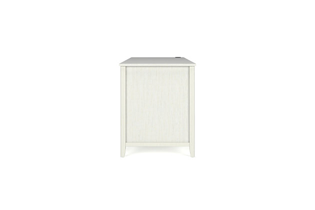 """OFM Quarters and Craft High-Tide Collection Home Office 57"""" Computer Desk, with Drawers, in Weathered White, , large"""