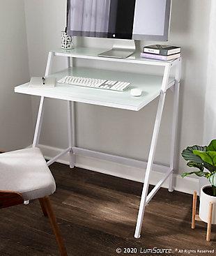 LumiSource 2-Tier Computer Desk, , rollover