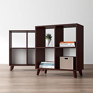 """HON BASYX 36"""" Modern Cube Bookcase, , rollover"""