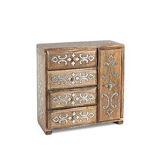 GG Mango Inlay Heritage Jewelry Box, , large