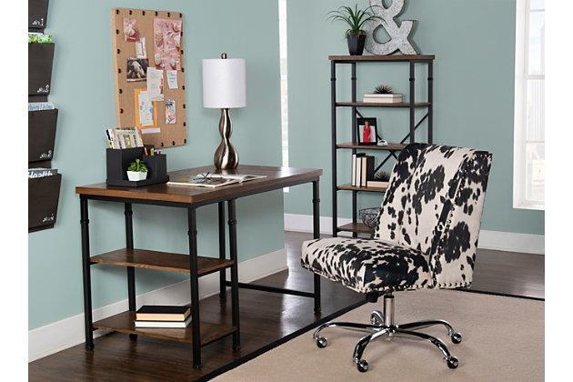 Austin 2 Shelf Desk, , large