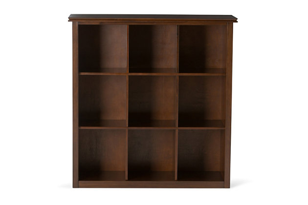 Simpli Home Artisan Wooden 9-Cube Bookcase and Storage Unit, , large