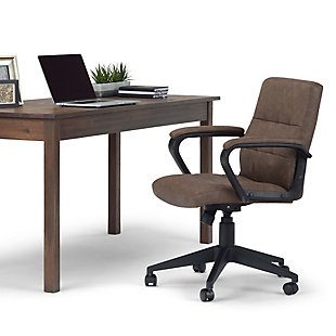 Simpli Home Brewer Swivel Office Chair, , rollover