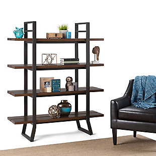 "Simpli Home Adler 66"" Industrial Bookcase, , rollover"