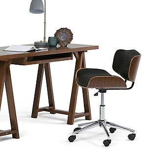 Simpli Home Dax Swivel Executive Office Chair, , rollover