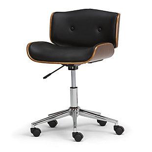 Simpli Home Dax Swivel Executive Office Chair, , large