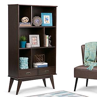 """Simpli Home Draper 64"""" Mid Century Bookcase and Storage Unit, , rollover"""