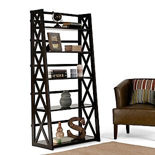 """Simpli Home Kitchener 63"""" Wooden Ladder Shelf, , rollover"""