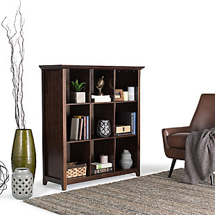 Simpli Home Acadian Wooden Rustic 9-Cube Bookcase, , rollover
