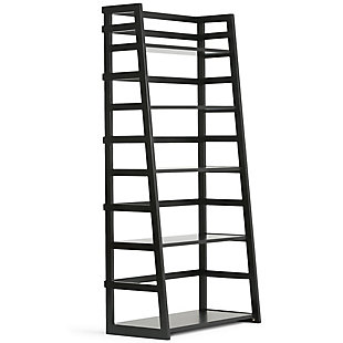 """Simpli Home Acadian 63"""" Wooden Rustic Ladder Bookcase, , large"""