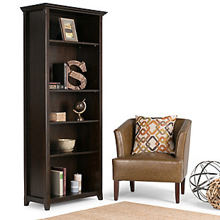 """Simpli Home Amherst 70"""" Transitional 5-Shelf Bookcase, , rollover"""