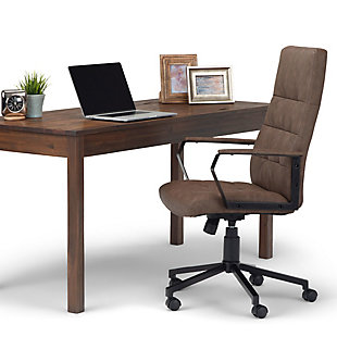 Simpli Home Foley Swivel Executive Chair, , rollover
