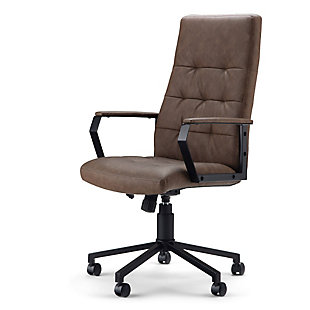 Simpli Home Foley Swivel Executive Chair, , large