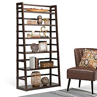 "Simpli Home Acadian 72"" Rustic Ladder Shelf, , rollover"