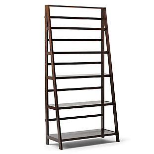 "Simpli Home Acadian 72"" Rustic Bookcase, , large"