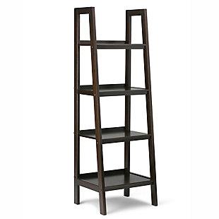 "Simpli Home Sawhorse 72"" Industrial Ladder Shelf, , large"