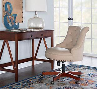 Meyer Office Chair, Beige, rollover