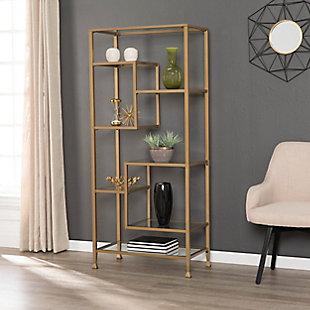 Southern Enterprises Arryn Asymmetrical Etagere/Bookcase, , rollover