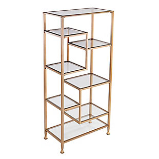 Southern Enterprises Arryn Asymmetrical Etagere/Bookcase, , large
