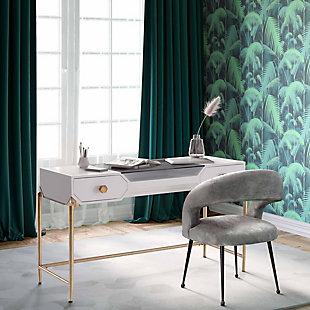 TOV Furniture Bajo Pink Lacquer Desk, , rollover