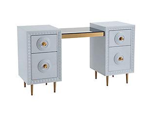 TOV Furniture Bovey Light Gray Lacquer Desk, , large