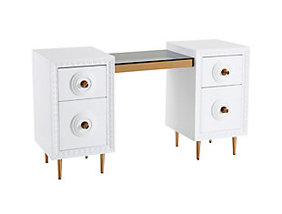 TOV Furniture Bovey White Lacquer Desk, , large