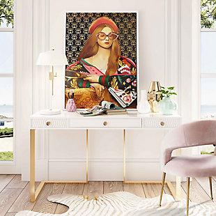 TOV Furniture Janie White Lacquer Desk, , rollover
