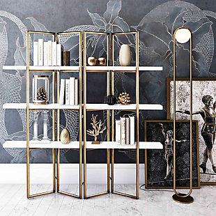 TOV Furniture Kupa Concrete Bookcase, , rollover