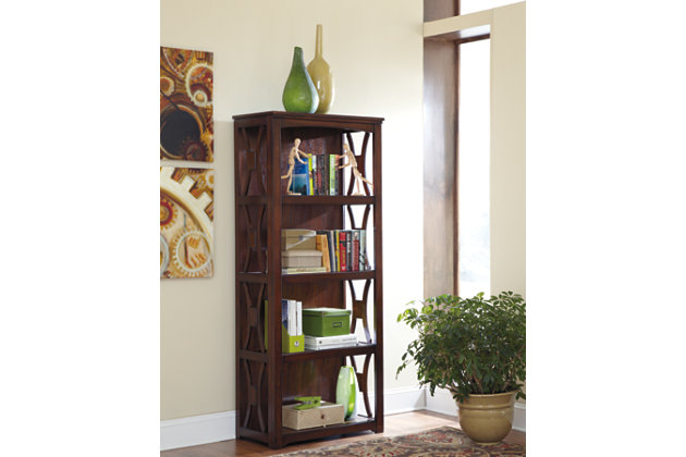"Devrik 72"" Bookcase by Ashley HomeStore, Brown"