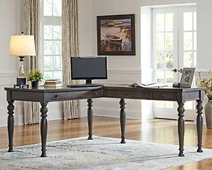 Devensted 2-Piece Home Office Desk, , rollover